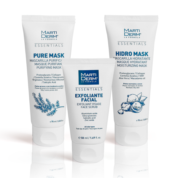 masks and exfoliante